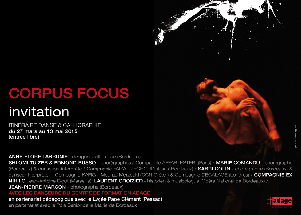 Invitation Corpus Focus recto